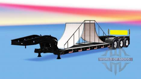 Низкорамный трал с 20-ю различными грузами для American Truck Simulator