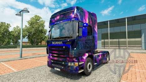 Скин Desktop oGrafhic на тягач Scania для Euro Truck Simulator 2