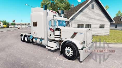 Скин FTI Transport на тягач Peterbilt 389 для American Truck Simulator