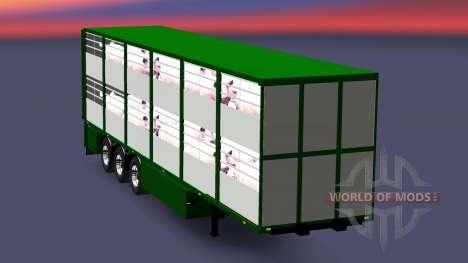Полуприцеп-скотовоз Ferkel Trans v2.0 для Euro Truck Simulator 2