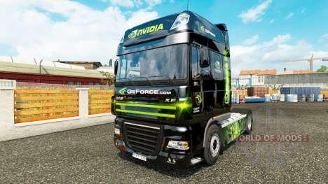 Скин Nvidia на тягач DAF XF 105.510 для Euro Truck Simulator 2