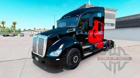 Скин Turkish Power на тягач Kenworth для American Truck Simulator