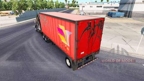 Полуприцепы с реальными логотипами компаний для American Truck Simulator
