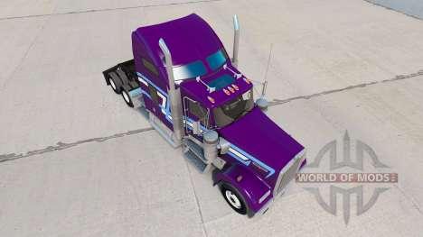 Скин Icon Style на тягач Kenworth W900 для American Truck Simulator