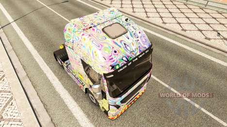 Скин Psychedelic на тягач Iveco для Euro Truck Simulator 2