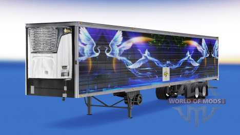 Скин CS Logistics 02 на полуприцеп-рефрижератор для American Truck Simulator