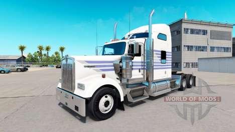Скин Classic Stripes на тягач Kenworth W900 для American Truck Simulator