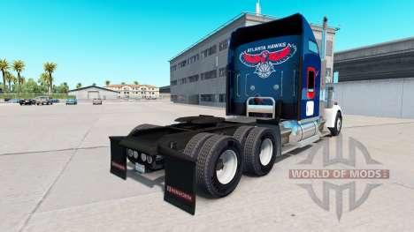 Скин Atlanta Hawks на тягач Kenworth W900 для American Truck Simulator