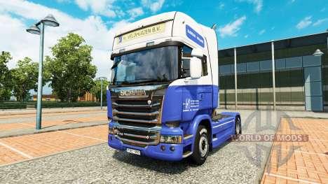 Скин H. Veldhuizen BV на тягач Scania для Euro Truck Simulator 2