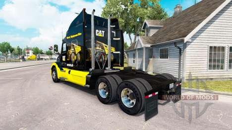 Скин CAT на тягач Peterbilt для American Truck Simulator