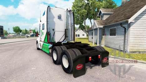Скин DFS Danfreiht на тягач Peterbilt 387 для American Truck Simulator