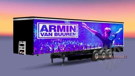 Скин Armin van Buuren на полуприцеп для Euro Truck Simulator 2