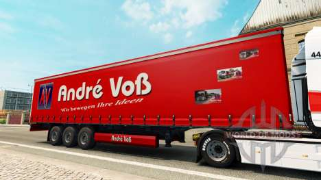 Скин Andre Voss на полуприцеп для Euro Truck Simulator 2