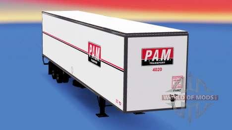 Цельнометаллический полуприцеп PAM для American Truck Simulator
