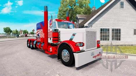 Скин USA на тягач Peterbilt 389 для American Truck Simulator