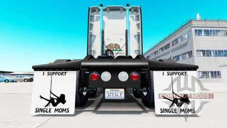 Брызговики I Support Single Moms v1.5 для American Truck Simulator