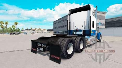 Скин Blue-white на тягач Kenworth W900 для American Truck Simulator