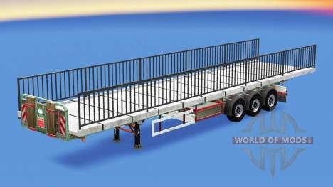 Полуприцеп-площадка с грузом элемента моста для American Truck Simulator