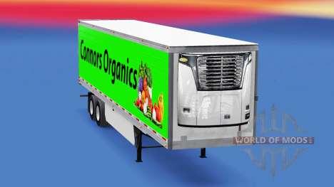 Скин Conors Organics на полуприцеп для American Truck Simulator