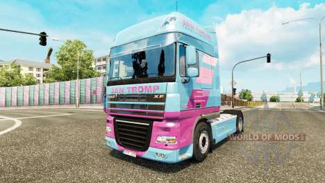 Скин Jan Tromp на тягач DAF XF 105.510 для Euro Truck Simulator 2
