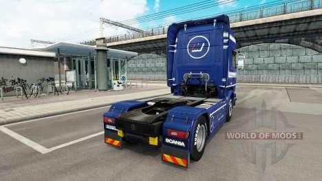Скин Mainfreight на тягач Scania для Euro Truck Simulator 2