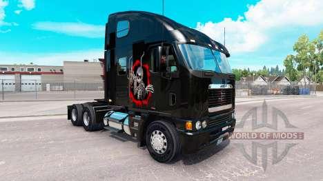 Скин Reworked Skull на тягач Freightliner Argosy для American Truck Simulator