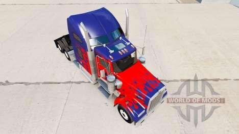 Скин Optimus Prime на тягач Kenworth W900 для American Truck Simulator