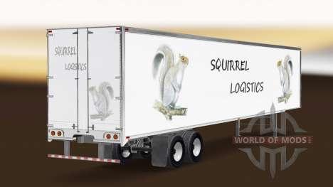 Скин Squirrel Logistics на полуприцеп для American Truck Simulator