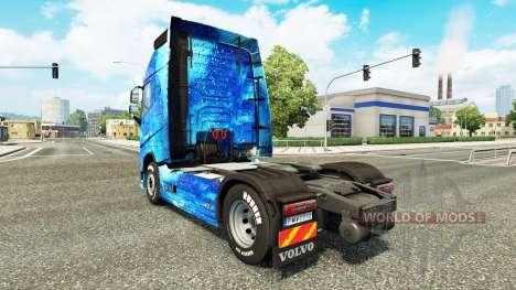 Скин Water на тягач Volvo для Euro Truck Simulator 2