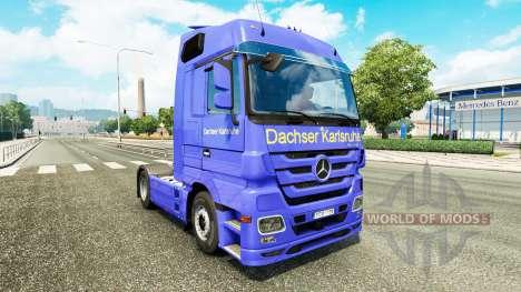 Скин Dachser Karlsruhe на тягач Mercedes-Benz для Euro Truck Simulator 2