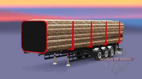 Полуприцеп-лесовоз для Euro Truck Simulator 2