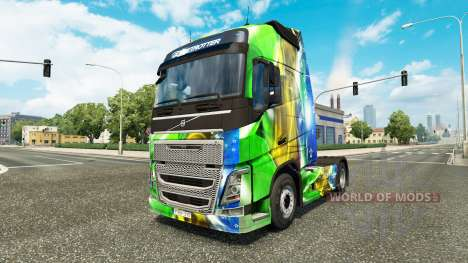 Скин Brasil 2014 v3.0 на тягач Volvo для Euro Truck Simulator 2