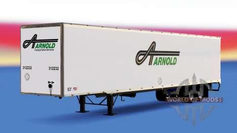 Цельнометаллический полуприцеп Arnold для American Truck Simulator