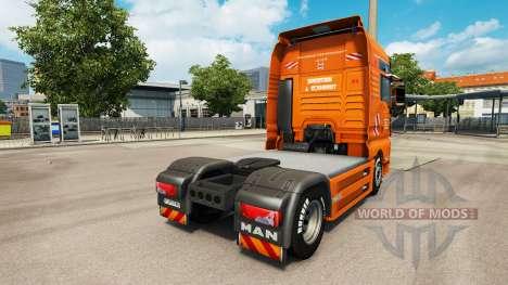 Скин Spedition J.Eckhardt на тягач MAN для Euro Truck Simulator 2