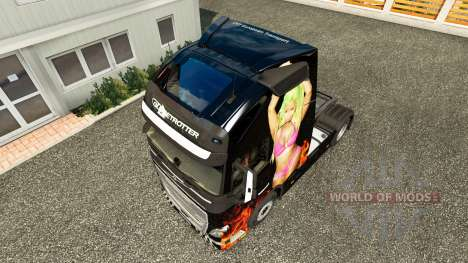 Скин Nicki Minaj на тягач Volvo для Euro Truck Simulator 2
