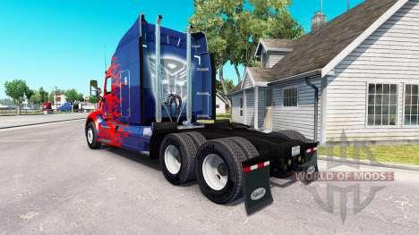 Скин Optimus Prime на тягач Peterbilt для American Truck Simulator