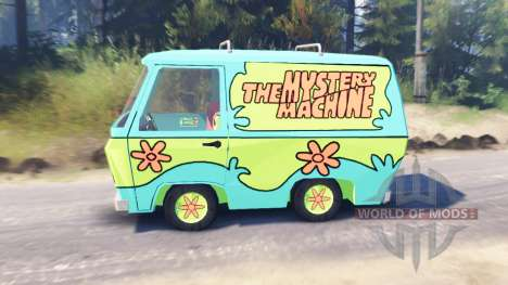 The Mystery Machine [Scooby-Doo] для Spin Tires
