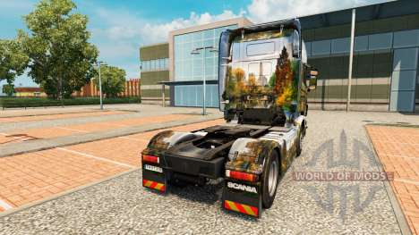 Скин Central Park на тягач Scania для Euro Truck Simulator 2