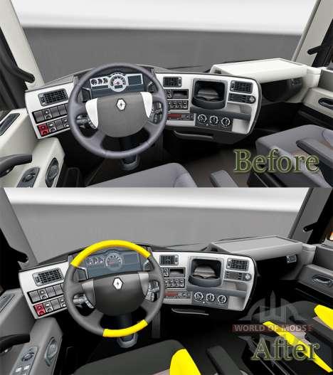 Скин Get FKD на тягач Renault для Euro Truck Simulator 2