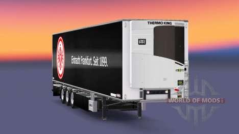 Полуприцеп Chereau Eintracht Frankfurt для Euro Truck Simulator 2
