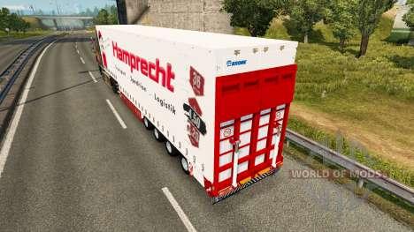 Шторный полуприцеп Krone Hamprecht для Euro Truck Simulator 2