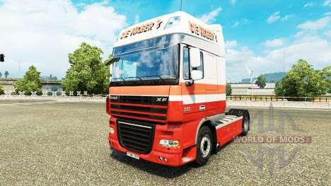 Скин Die Nabers на тягач DAF для Euro Truck Simulator 2
