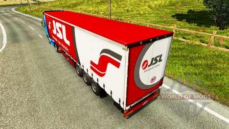 Скин Julio Simoes Logistic на полуприцеп для Euro Truck Simulator 2