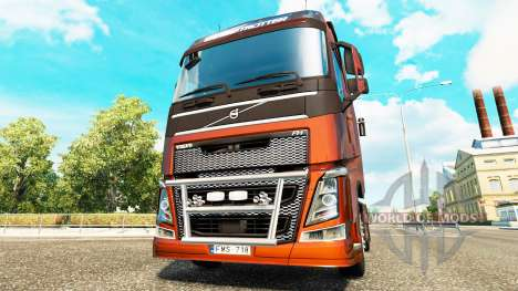 Кенгурятник на тягач Volvo для Euro Truck Simulator 2