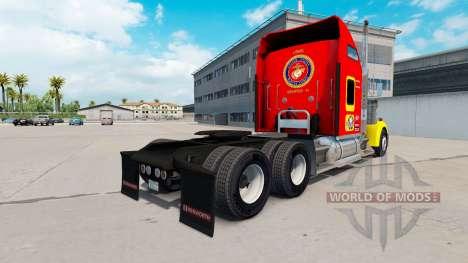 Скин USMC v1.01 на тягач Kenworth W900 для American Truck Simulator