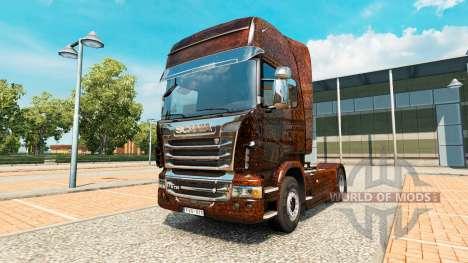 Скин Ferrugem v2.0 на тягач Scania для Euro Truck Simulator 2
