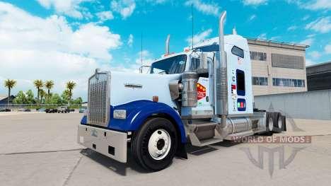 Скин UNC Tarheel на тягач Kenworth W900 для American Truck Simulator