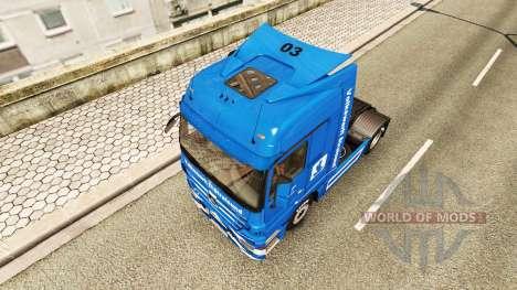 Скин Volkswerft Stralsund на тягач Mercedes-Benz для Euro Truck Simulator 2