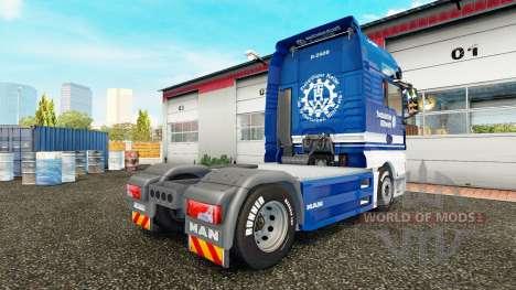 Скин THW на тягач MAN для Euro Truck Simulator 2