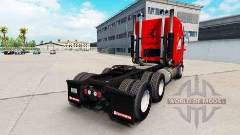 Скин Scuderia Ferrari на тягач Kenworth K100 для American Truck Simulator